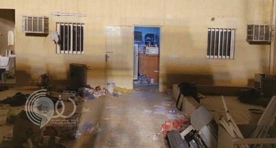 """شاهد بالفيديو.. ماذا عثر رجال الأمن داخل استراحة """"دواعش"""" الزلفي"""