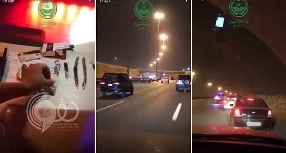 بالفيديو.. المرور السري في الرياض يستوقف 3 مركبات ويكتشف مفاجأة داخل إحداها
