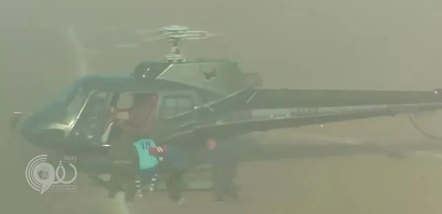 شاهد بالفيديو.. لحظة اختطاف لاعب إيطالي من مباراة اعتزاله بواسطة هليكوبتر