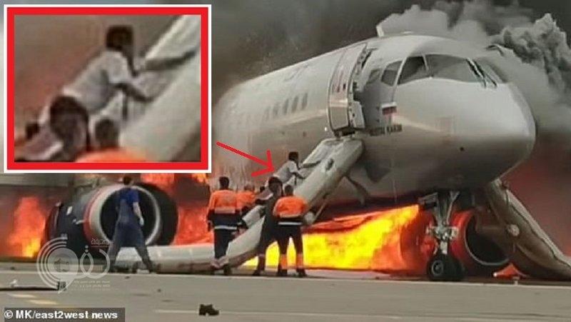 فيديو رهيب.. لماذا عاد هذا الطيار إلى الطائرة الروسية المحترقة؟!