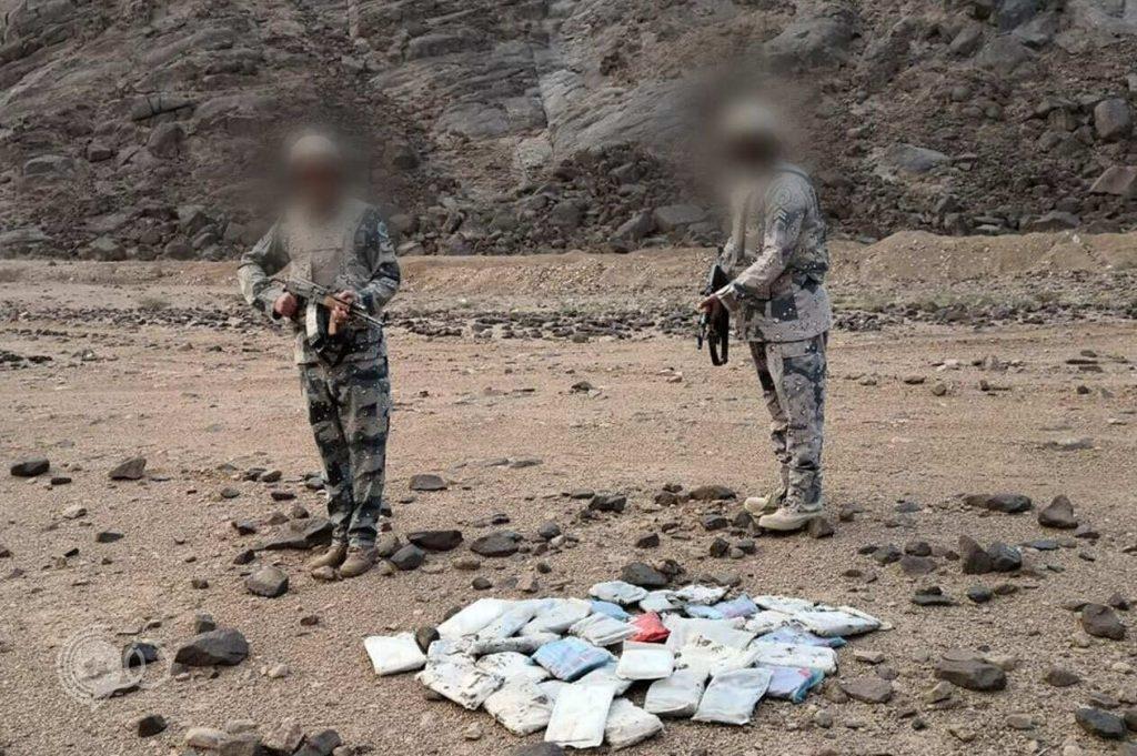 حرس الحدود يحبط تهريب 1300 كيلو حشيش مخدر بجازان ونجران.. صور