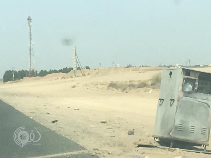 مجهولون يعتدون على كاميرات ساهر بمحافظة أحد المسارحة.. صور