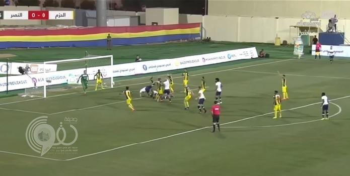 """النصر يحافظ على صدارة الدوري بهاتريك """"حمدالله"""" أمام الحزم.. فيديو"""
