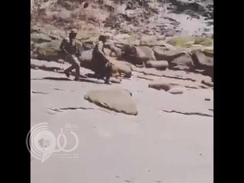 بالفيديو.. شاهد أبطال الحد الجنوبي في مناوشة مع إرهابين في نهار رمضان