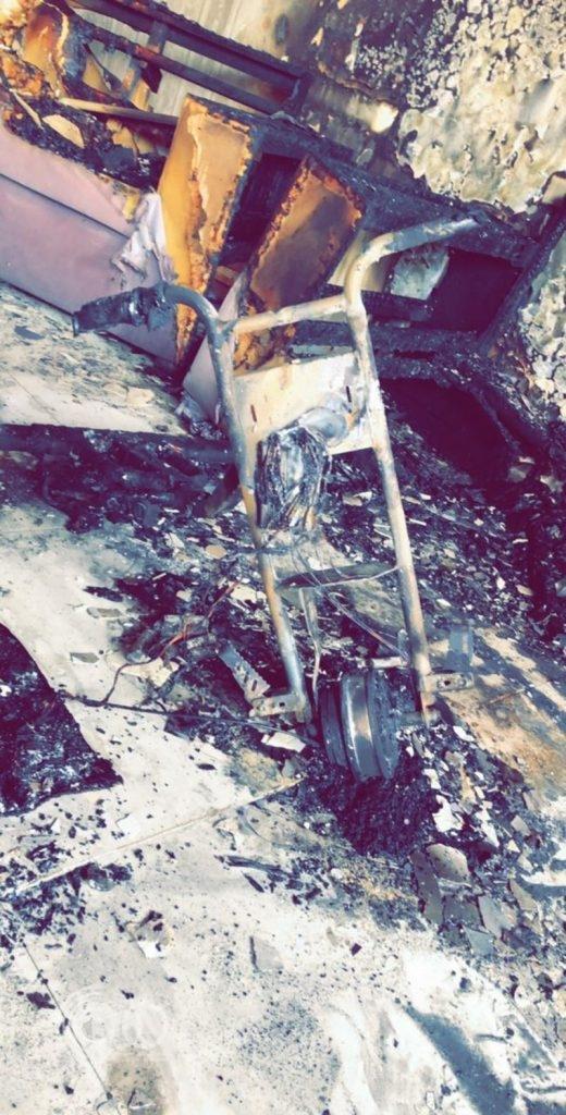 """حريق هائل في منزل بمنطقة جازان بسبب """"أسكوتر ذكي"""""""