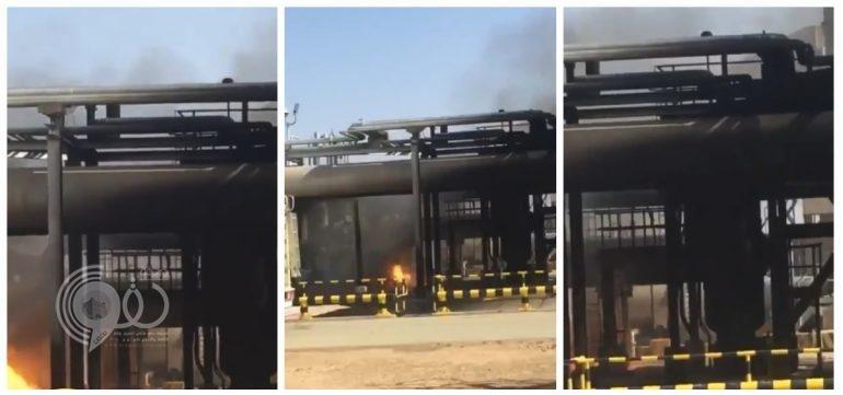 شاهد .. فيديو يٌظهر أضرار محطة أرامكو بالدوادمي إثر الهجوم الإرهابي الحوثي