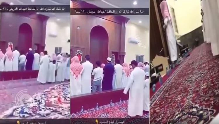 شاهد: طفل بعمر 12 عاماً يؤم المصلين بأحد المساجد في القصيم