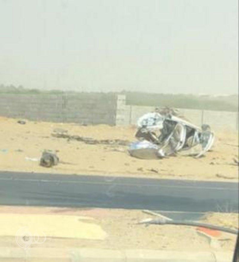 مصرع وإصابة شخصين في حادث مروّع على طريق صبيا بجازان