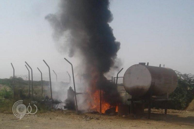 """""""مياه جازان"""" توضح تفاصيل عن حريق مضخة قرى المخلاف بمحافظة صبيا"""