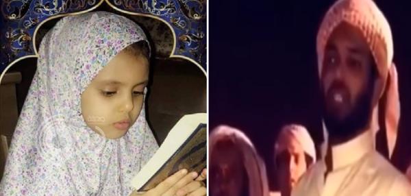 """شاهد بالفيديو.. ماذا قال والد الطفلة """"دانة"""" لحظة تشييع جثمانها بالمقبرة"""