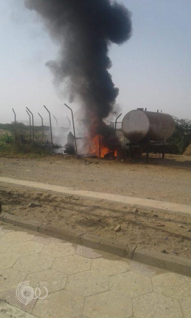 جازان.. حريق مجهول السبب يلتهم مضخة مياه 8 قرى بصبيا وارتفاع بسعر الصهاريج
