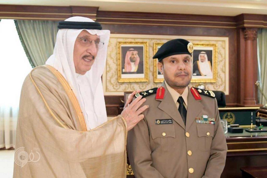 أمير جازان يقلِّد مدير شرطة المنطقة رتبة «اللواء».. صور