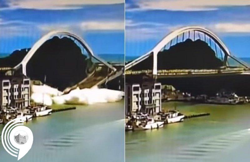 شاهد بالفيديو .. لحظة انهيار جسر في تايوان وإصابة 14 شخصاً