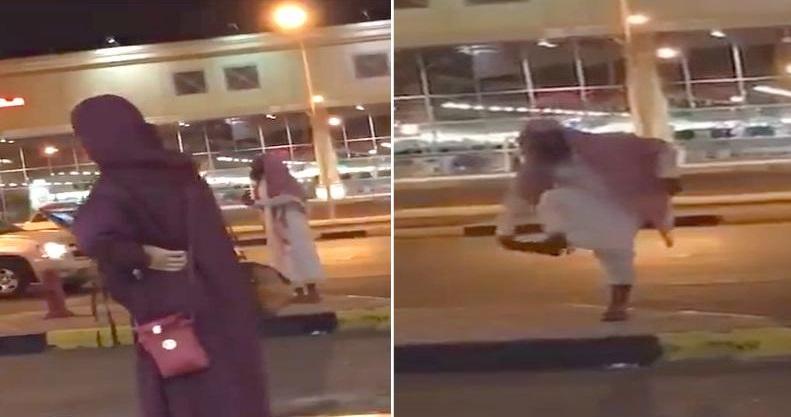 الجهات الأمنية تضبط مريضاً نفسياً صرخ على النساء في الشارع ورماهن بحذائه – فيديو