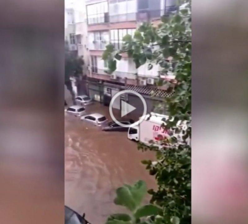 بالفيديو.. تل أبيب تغرق بمياه الأمطار والسيول وإعلان حالة الطوارئ