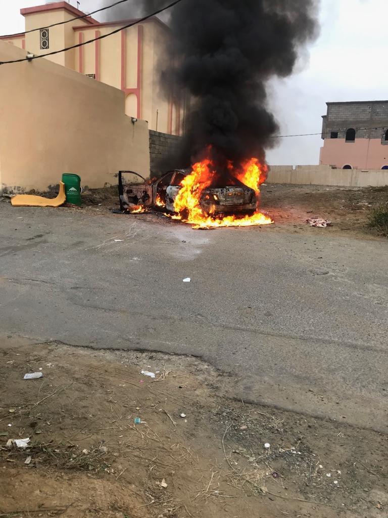 مركز الحقو : بعد احتراق سيارة أمام أحد المنازل ، الأهالي يجددون مطالبهم بمركز للدفاع المدني – فيديو