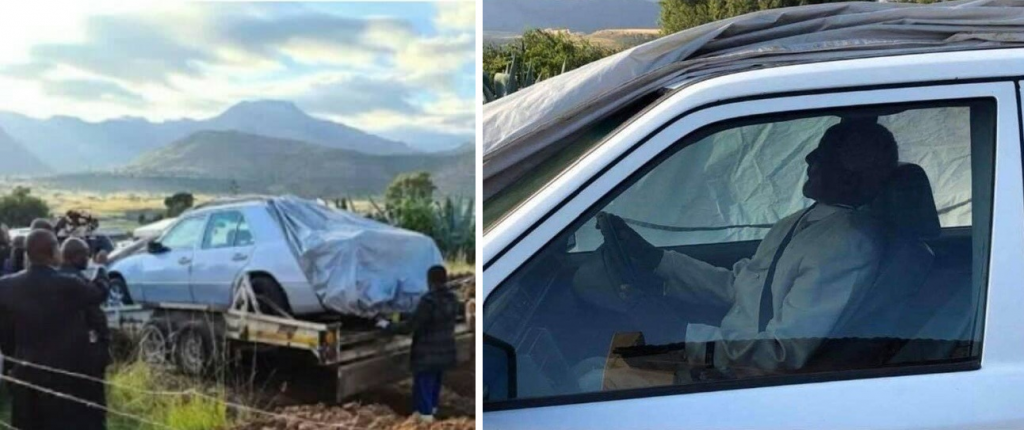 """سر دفن """"زعيم أفريقي"""" بسيارته المرسيدس!"""