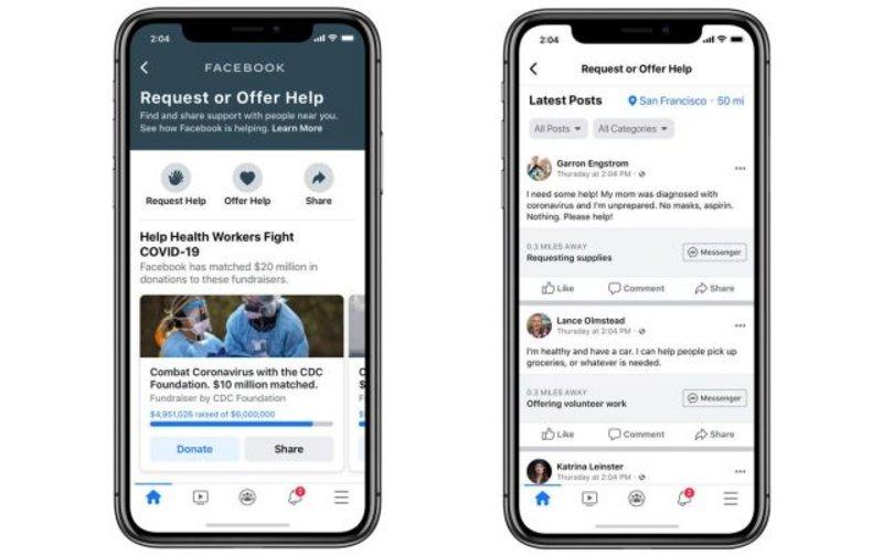 """""""فيسبوك"""" تطرح أداة جديدة للتواصل بين الموجودين في الحجر الصحي"""