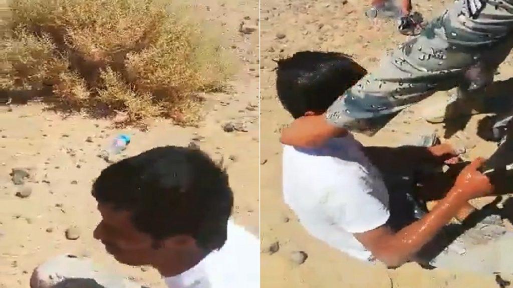 """شاهد: أفراد من حرس الحدود ينقذون زميلهم """" القحطاني المفقود """" بعد حادث غريب ودخوله الأراضي الأردنية ليلا"""