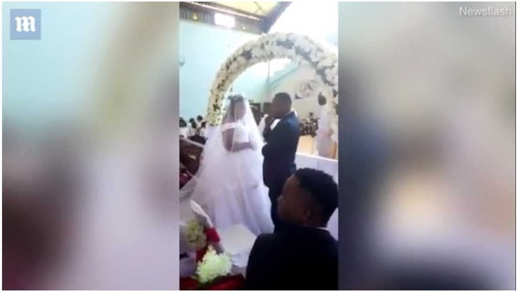 شاهد لحظة ضبط زوج أثناء زفافه بعد أن أخبر زوجته الأولى أنه مسافر إلى خارج المدينه للعمل