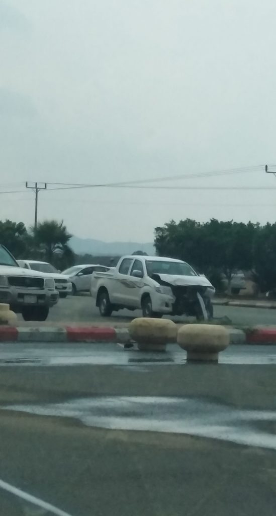عاجل | حادث مروري بالقرب من حديقة الأمير محمد بن ناصر بمركز الحقو