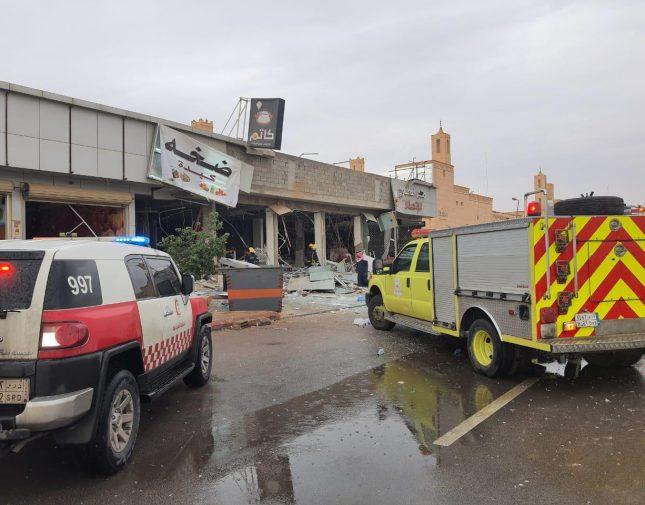 شاهد : تسريب غاز يتسبب بانفجار في مطعم والهلال الأحمر يكشف عن عدد الضحايا والمصابين