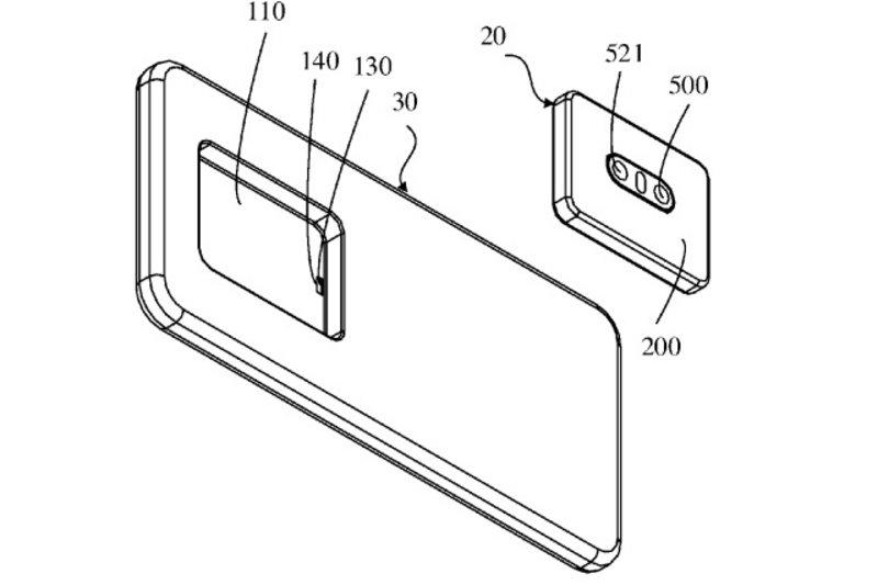 براءة اختراع تكشف عن أول هاتف في العالم بكاميرا قابلة للإزالة