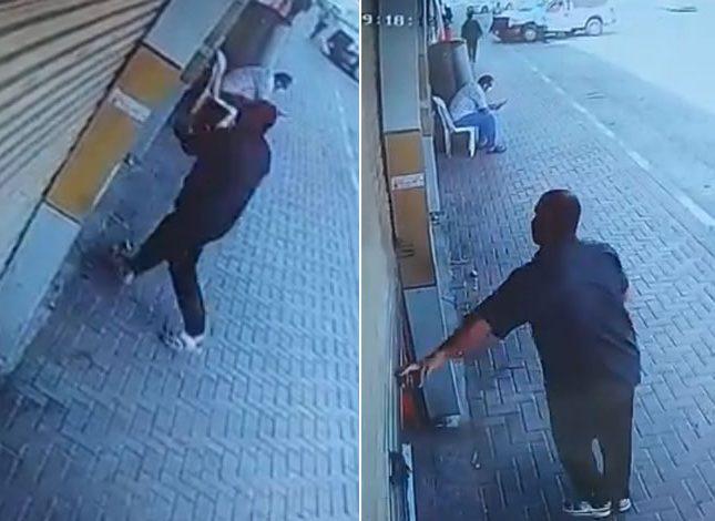 """عامل بنشر يغلق المحل على قائد """"جيب شيروكي"""".. شاهد ردة فعل الأخير الصادمة!"""