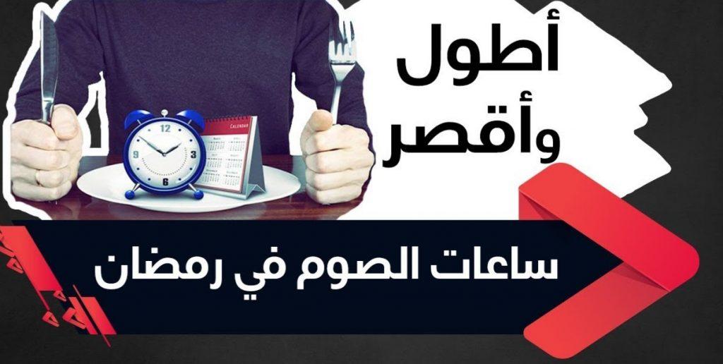 """""""جازان"""" الأقصر في عدد ساعات الصيام و محافظة """"طريف"""" الأطول بين المدن السعودية"""
