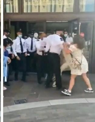 فيديو مُتداول لنساء يتشاجرن مع أفراد الأمن بسبب رفض إرتداء الكمامه اثناء دخول أحد المتاجر