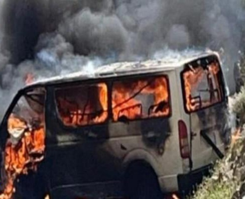 """محافظة الريث : وفاة مواطن وإصابة 5 أشخاص في احتراق حافلة """"فرقة شعبية"""" – تفاصيل"""