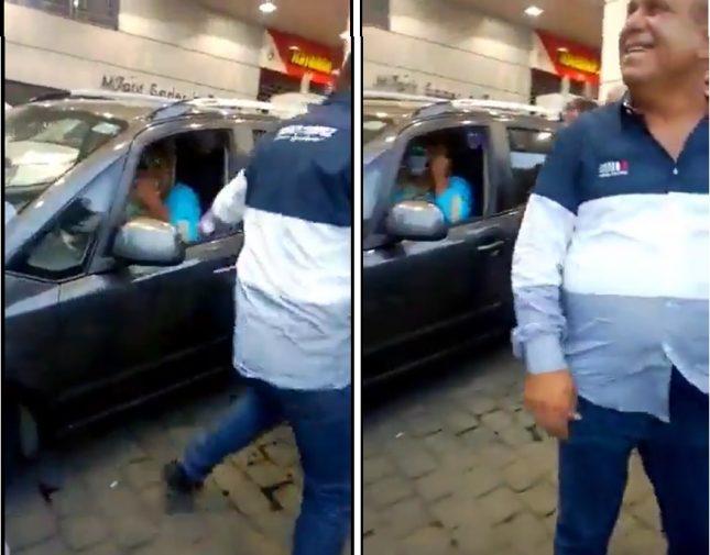 شح الوقود والمحروقات في لبنان يدفع برجل للتنكر بزي امرأة – فيديو